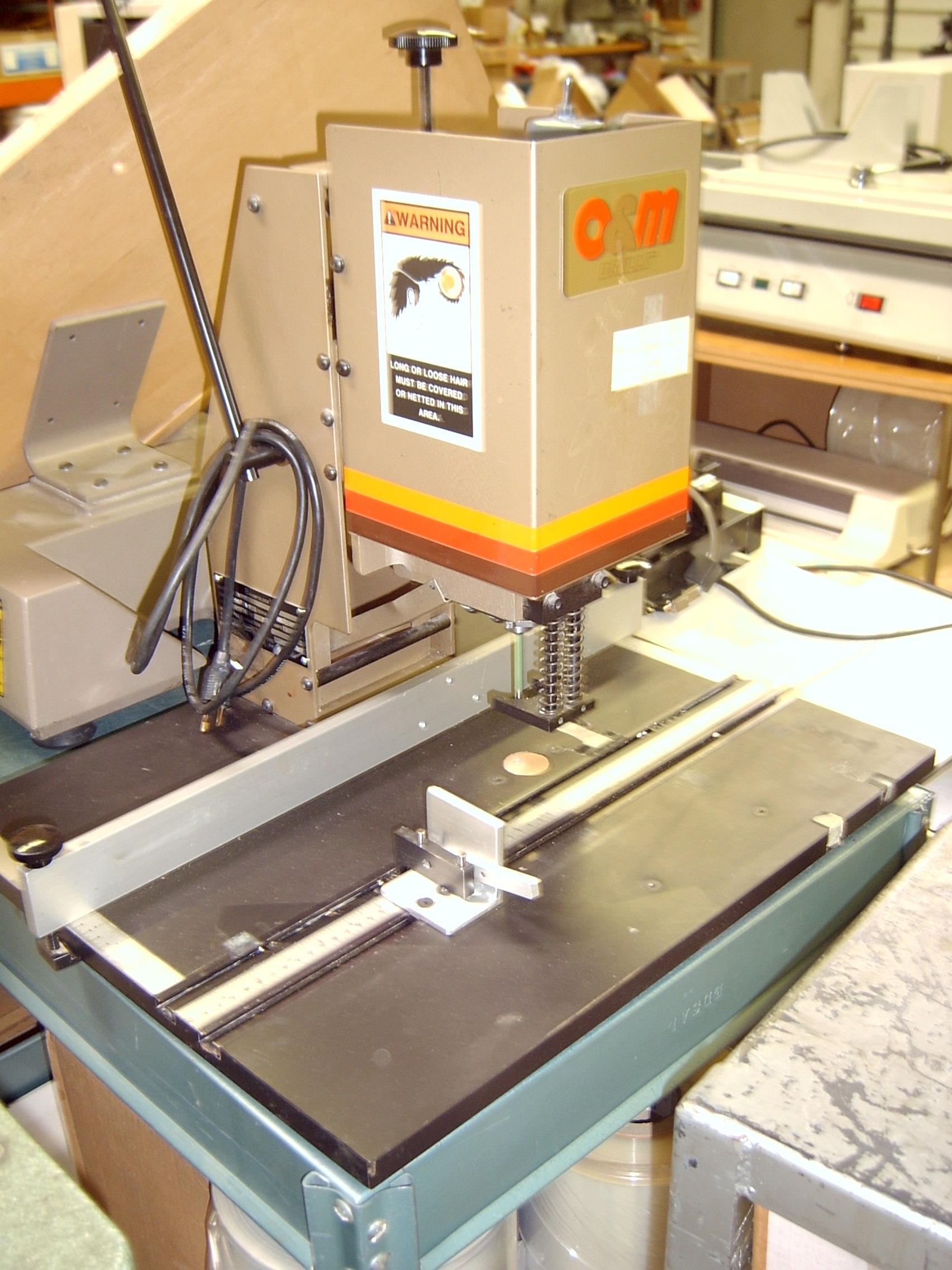 4065, O&M (NYGREN DAHLY) SINGLE SPINDLE TABLE TOP PAPER DRILL ...